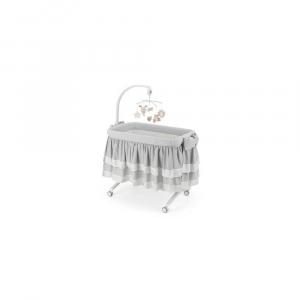 Приставне колиска-ліжечко CULLAMI LUXE з постілью, колір сірий