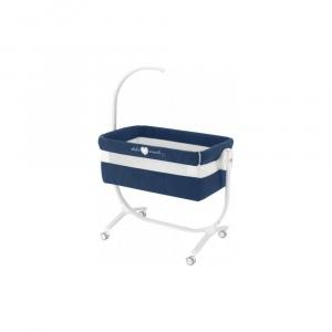 Приставне колиска-ліжечко CULLAMI з постілью, колір темно-синій