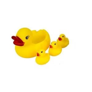 Набор резиновых уточек для купания Уточки пищалки Best Toys Жёлтый