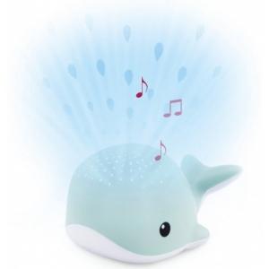 WALLY Кит Ночник-проектор со звуками океана и колыбельными (синий)