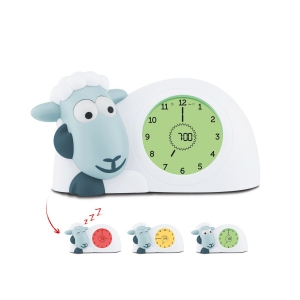 SAM - СЭМ ягненок тренер сна с ночником, часами и будильником (синий)