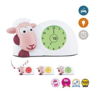 SAM - СЭМ ягненок тренер сна с ночником, часами и будильником (розовый)