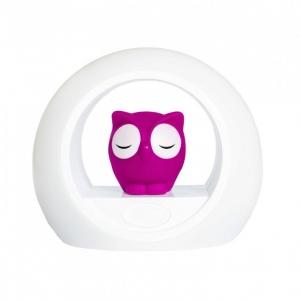 LOU - Лу совёнок ночник со звуковой активацией (розовый)