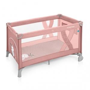 Манеж-кроватка Baby Design SIMPLE 08 PINK