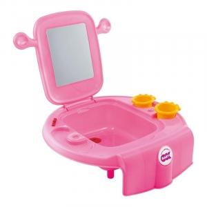 Умывальник Space с безопасным зеркалом, Ok Baby (розовый)