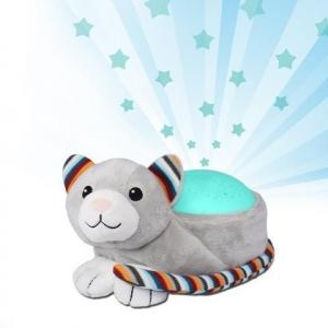 Котик-ночник KIKI с проектором звёздного неба с мелодиями, ZAZU