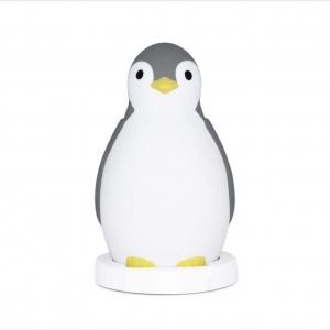 Ночничок-светильник с автоматическим отключением и тренер сна Пингвинёнок PAM, Zazu (серый)