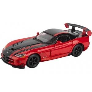 Модель автомобиля Dodge Viper SRT 10 ACR, 1:24, Bburago (красно-черный)
