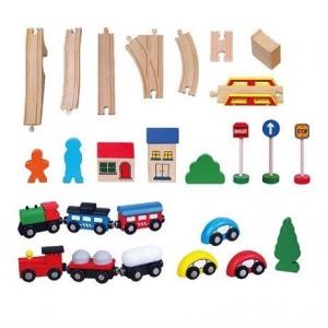 """Игрушка Viga Toys  """"Железная дорога"""" (49 деталей)"""
